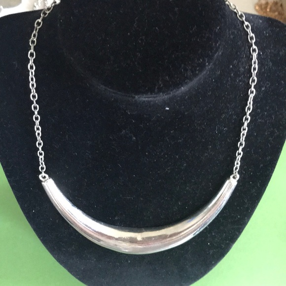4011cb8c62780 Half moon choker necklace